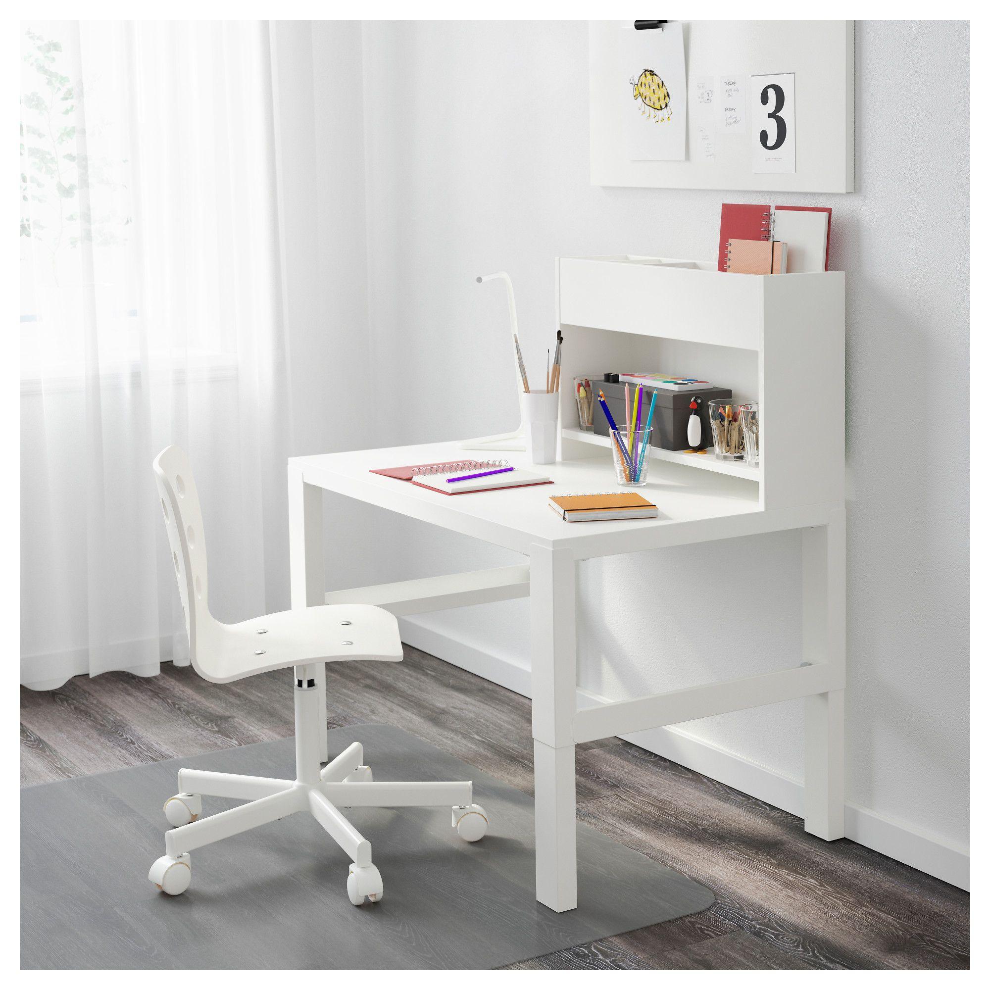 Kinderschreibtisch weiß mit aufsatz  PÅHL Schreibtisch mit Aufsatz weiß in 2019 | Products | Schreibtisch ...