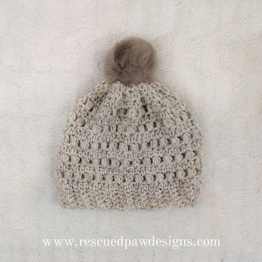 Crochet Puff Stitch Beanie - Free Pattern | Gorros, Tejido y Ropa