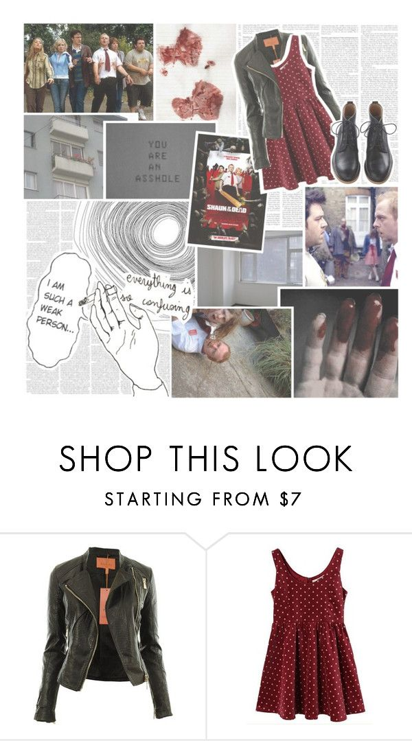 """""""31 Days of Halloween // Day Twenty-Seven: Shaun of the Dead"""" by partyondudes ❤ liked on Polyvore featuring Trilogy, MasterOfHashtags and FelineIcide"""