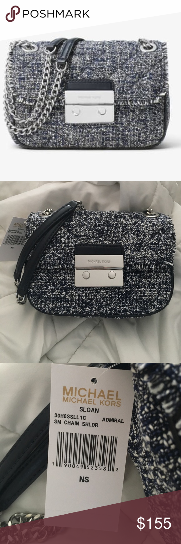 919b9b3c8571 MK Small Sloan Tweed Crossbody New, so cute!! Is no longer in stock! Feel  free to make an offer! Michael Kors Bags Crossbody Bags