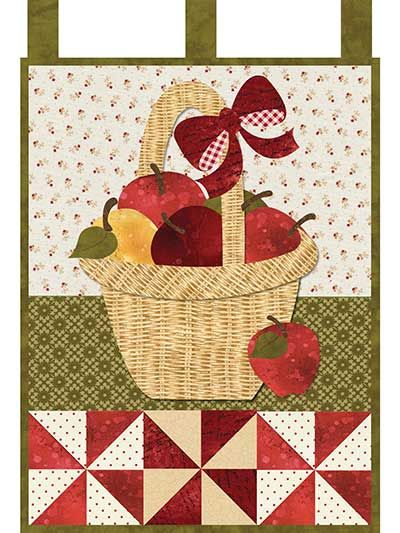 This rich and delightful laser-cut quilt features a big basket of ... : quilted wall hanging kits - Adamdwight.com