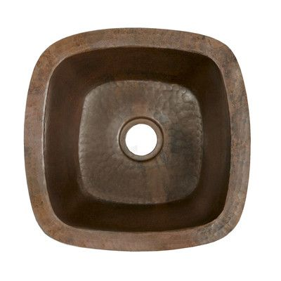 13 X Small Square Hand Hammered Bar Sink