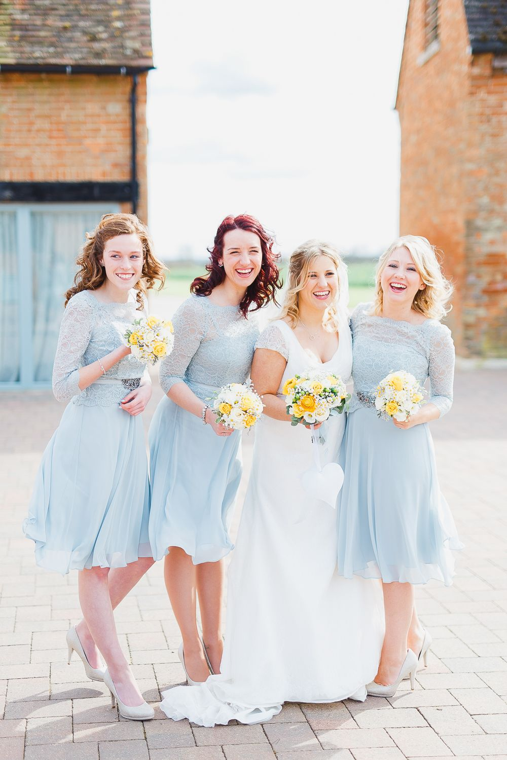 Rustic wedding with yellow colour scheme at bassmead manor barns baby blue lace bridesmaid dresses rustic wedding yellow colour scheme bassmead manor barns ombrellifo Images