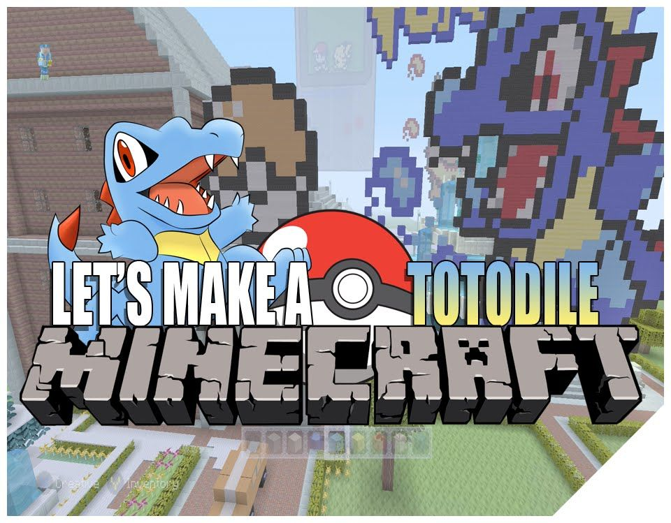 Minecraft Pixel Art How To Build Pokemon Totodile Mc Timelapse Xbox One Minecraft Pixel Art Pixel Art Tutorial Pixel Art