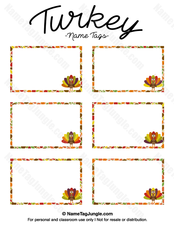 Free Printable Turkey Name Tags Download Them From Https Nametagjungle Com Name T Printable Turkey Thanksgiving Printable Templates Thanksgiving Place Cards