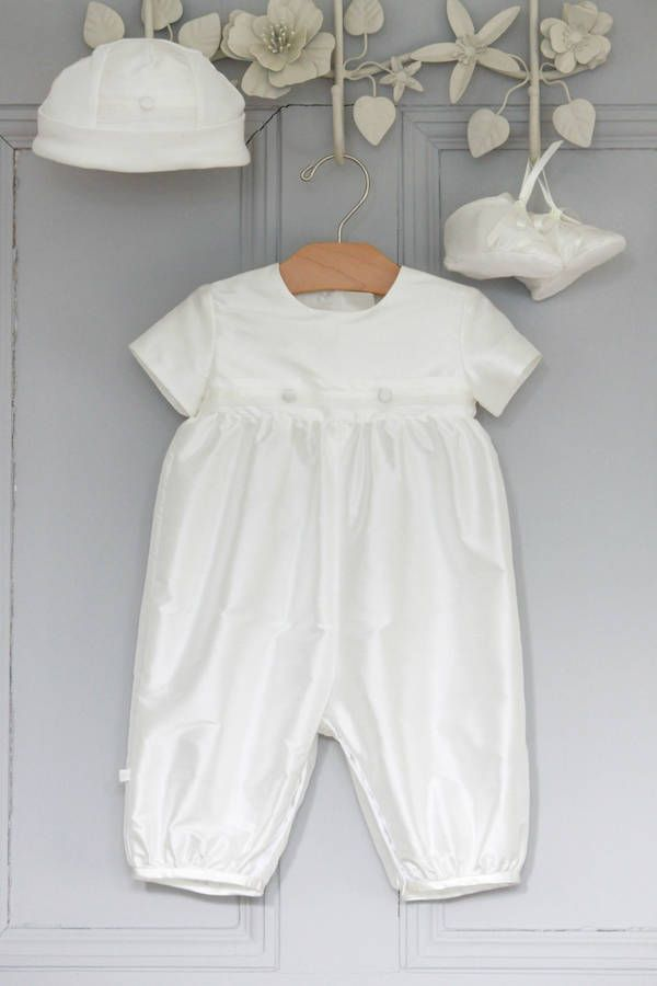 22aa9dab068e Boys  George  Christening Romper Suit