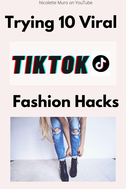 Trying Tiktok Fashion Hacks Tiktok Fashion Diy Fashion Hacks Fashion Tips