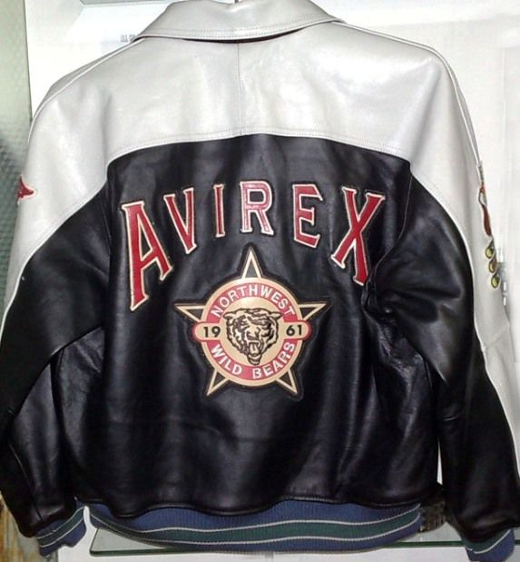 Avirex leather jacket | Black Through The Years | Pinterest