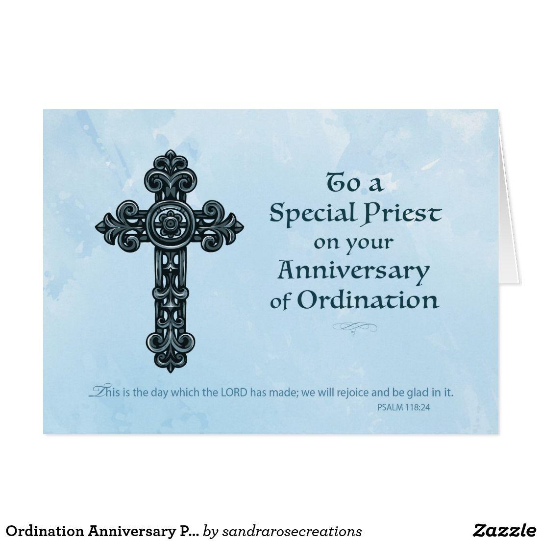 Ordination Anniversary Priest Ornate Cross Card Pinterest