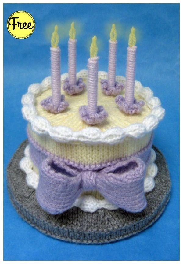 Amigurumi Birthday Cake Free Knitting Pattern Knitting Pinterest