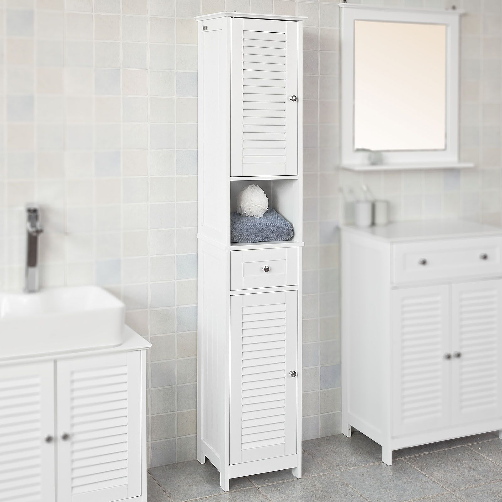 26 Dorable Bathroom Storage Cabinet Haotian White Floor Standing