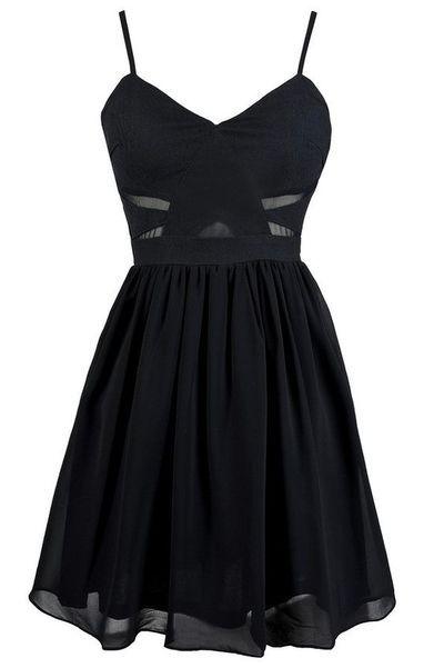 New Arrival Black Prom Dress,Spaghetti Straps Prom Dress,Sexy ...
