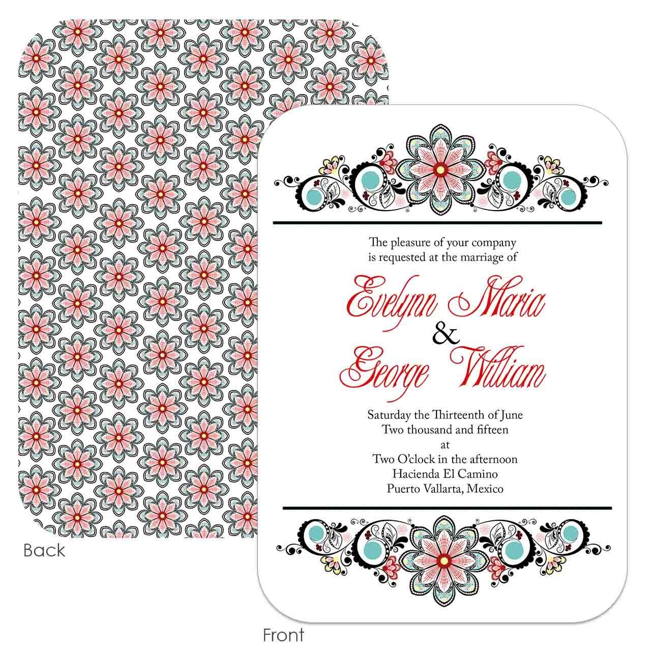Spanish Dancer Wedding Invitation - Cinemashopboutique | Wedding ...