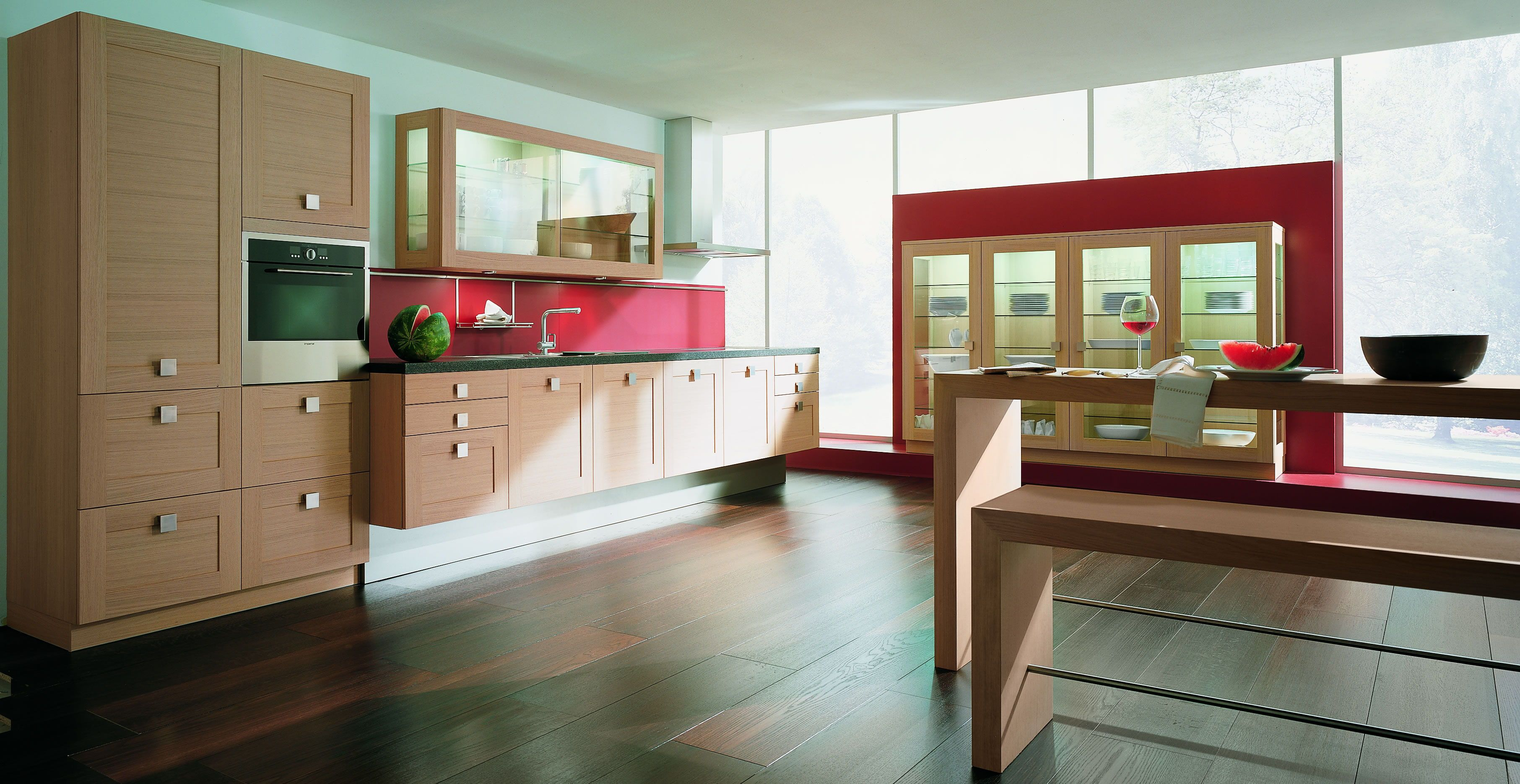How About A Red Back Splash In Your Kitchen With A Red Accent Wall The Red Is Striking Interior Design Kitchen Kitchen Inspiration Design Kitchen Room Design