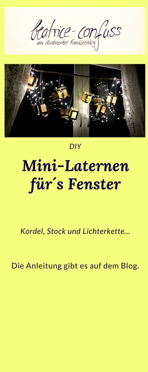 Mini-Laternen für´s Fenster -