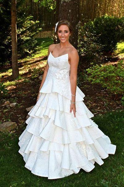 vestidos de novia hechos con papel higiénico (fotos) | reciclar
