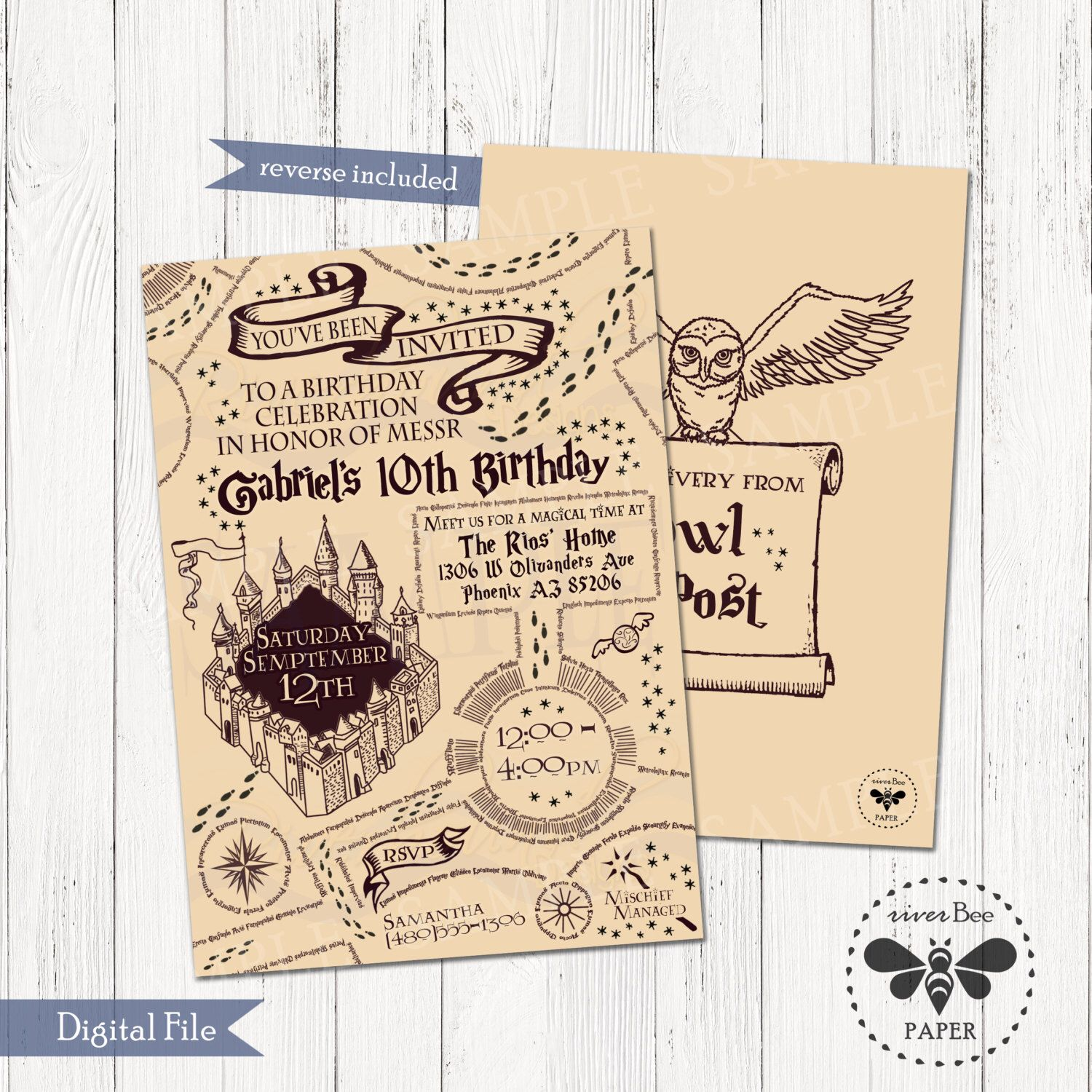 image about Harry Potter Marauders Map Printable called Marauders map invitation