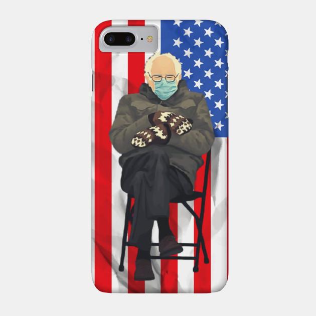 Bernie Sanders Mittens Sitting Inauguration Usa Flag Bernie Sanders Mittens Has United Us All Meme Phone Case Teepublic In 2021 Iphone Wallet Darth Darth Vader