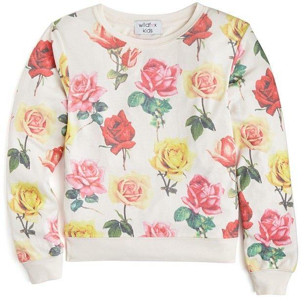 WILDFOX Girls' Bright Roses Baggy Beach Jumper - Sizes S-XL