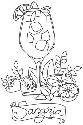 Happy Hour Sangria Image Fashion Coloring Book Free Printable Coloring Pages Coloring Books