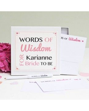 bride to be words of wisdom notes gift idea for bridal shower 1723 a special gift for the bride to be to offer her some personal