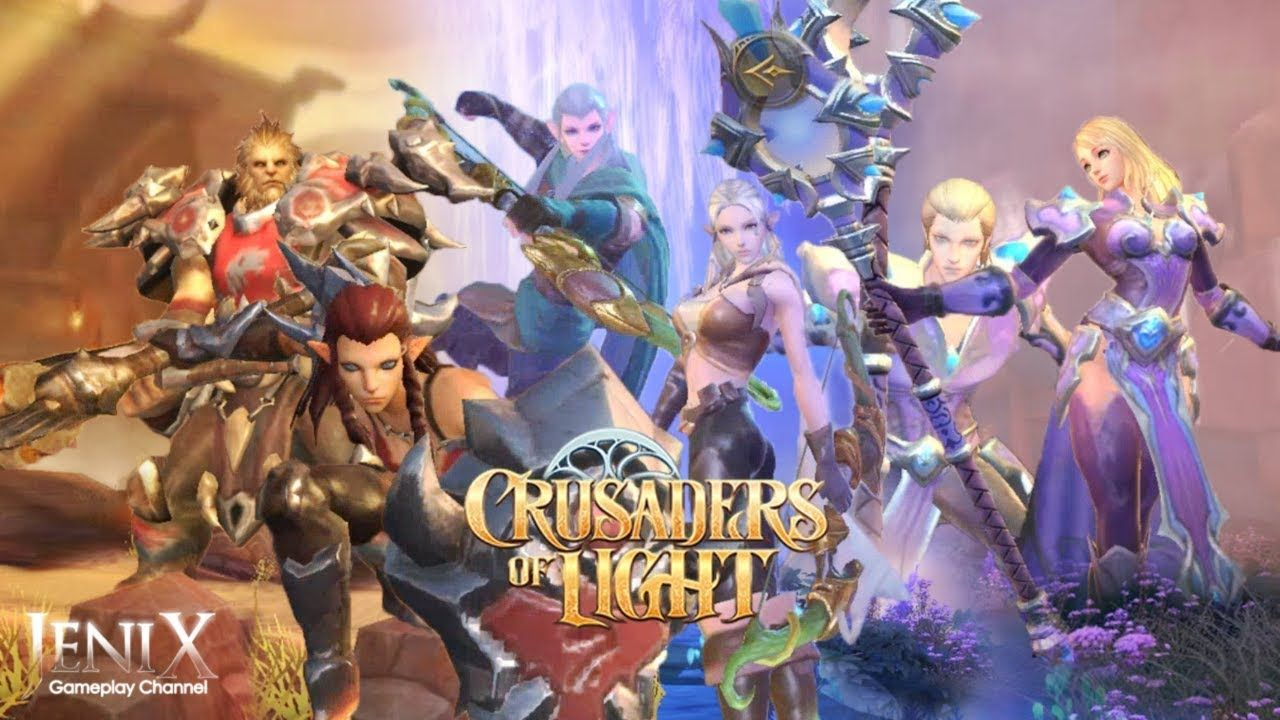 Crusaders of Light Gameplay / Open World MMORPG / Android