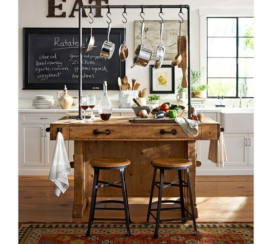 Rustic Metal Letters In 2019 Kitchen Island Pottery Barn
