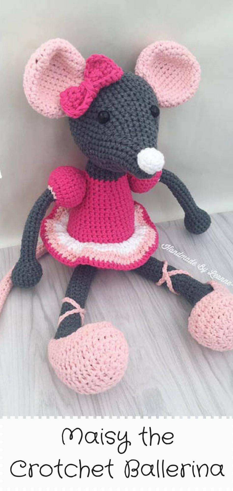 Maisy the Ballerina Mouse Carefully handmade crochet Mouse, made ...