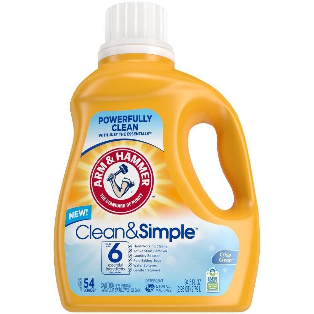 Arm Hammer Clean Simple Liquid Laundry Detergent 94 5 Fl Oz