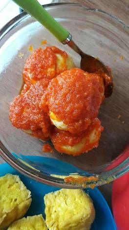 Resep Masak Telur Balado : resep, masak, telur, balado, Resep, Telur, Balado, Tanpa, Tomat, Ndaru, Mudjihardjo, Telur,, Makanan