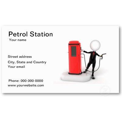 Petrol Station Business Card Zazzle Com Petrol Station Business Cards Petrol