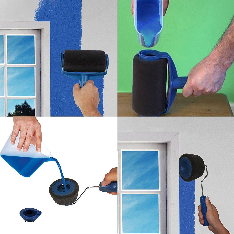 Paint Roller Kit,DIY Brush Handle Room Wall Painting