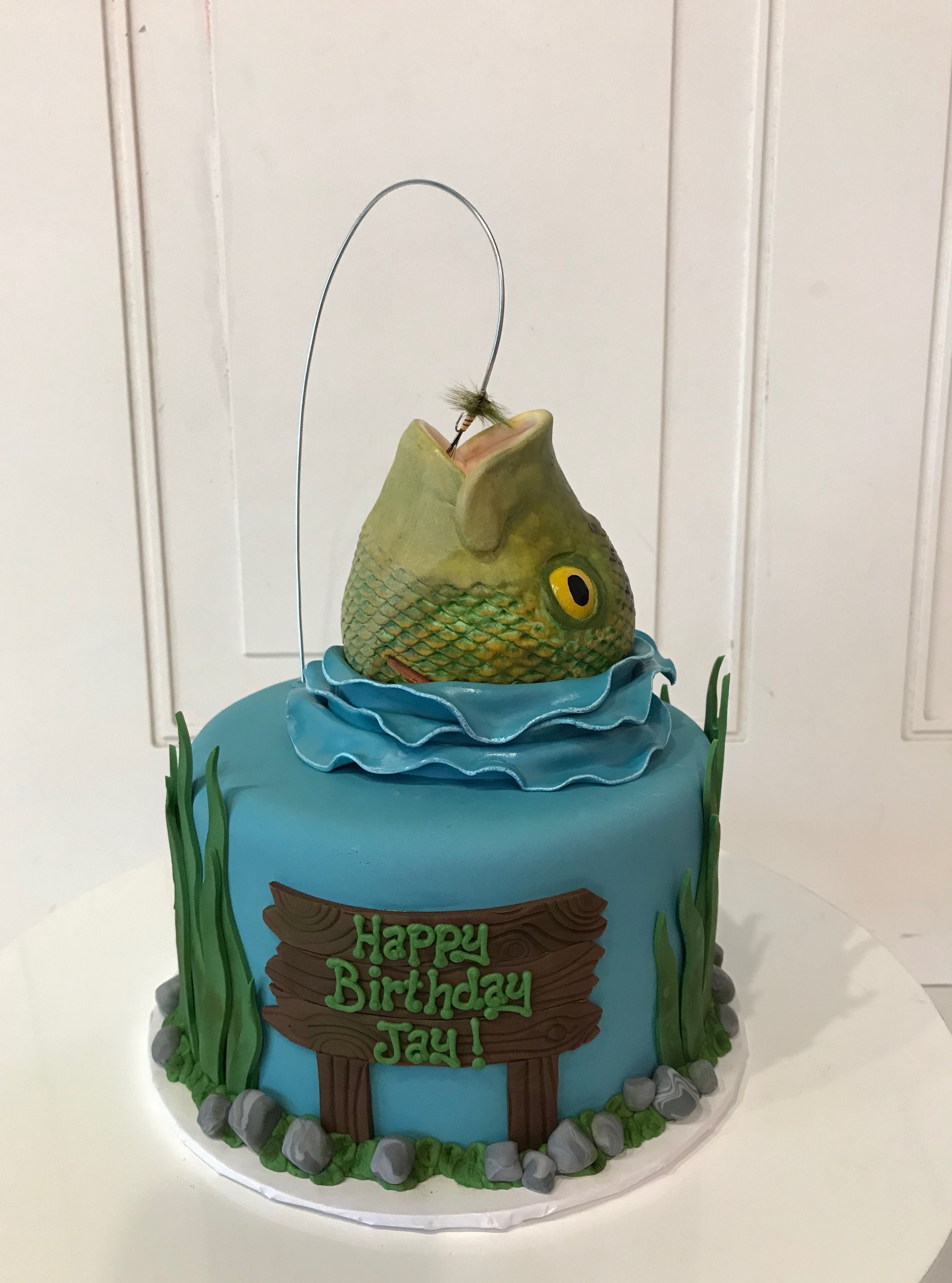 Cakes For Him Including Grooms Cakes Fish Cake Birthday Fish Cake Hunting Birthday Cakes