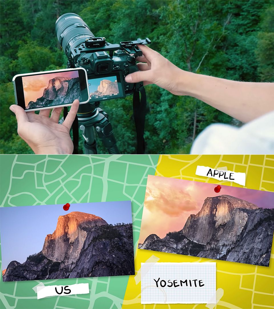Photographer attempts to recreate all default Apple