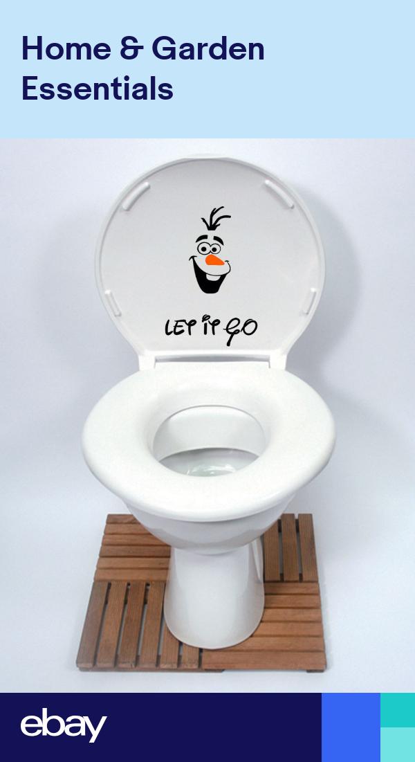 Olaf Frozen Disney Style Let It Go Funny Toilet Seat Wall Sticker