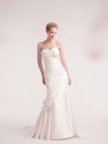 Stylish princess wedding dress with pleated sweetheart satin can curve your slim body perfectly.You will be the focus  with this dreamy dress.  $235.00