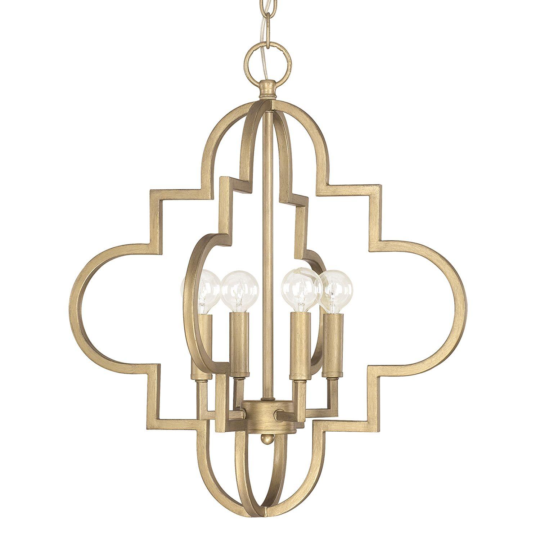 Four Light chandelier quatrefoil small chandelier tub