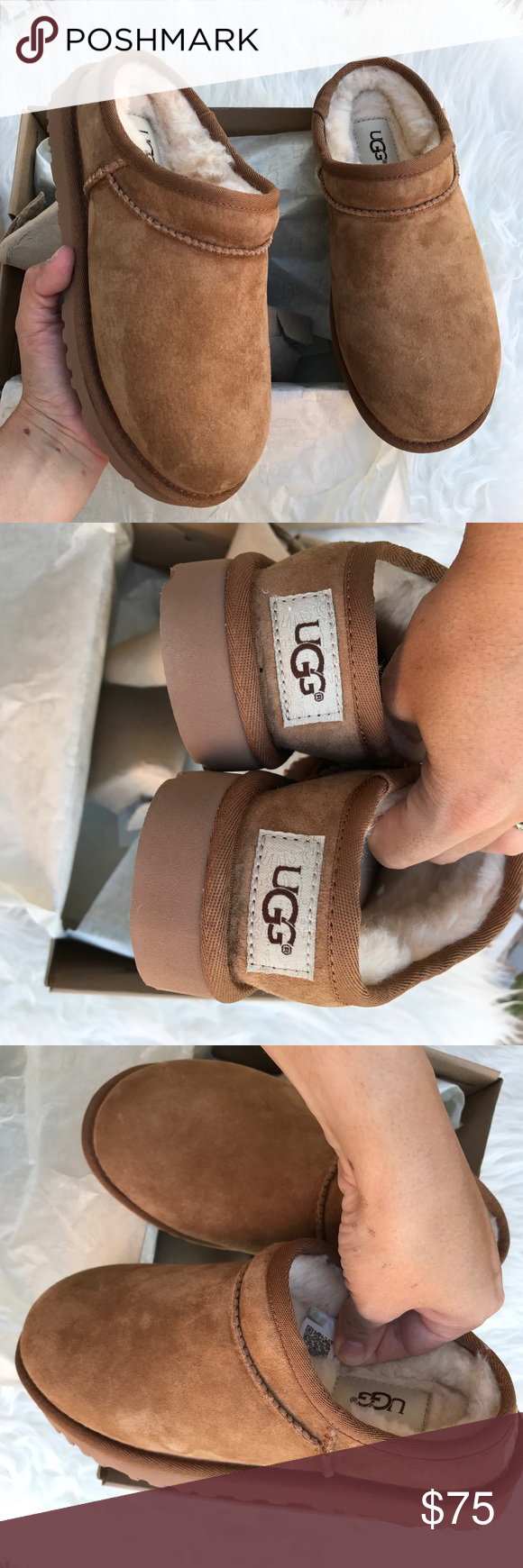 UGG classic water resistant slippers new sz 6 new UGG classic water resistant slippers new sz 6 new 100% authentic! Improved style ; more durable, water resistant and new packaging . Itemcloset#docin UGG Shoes