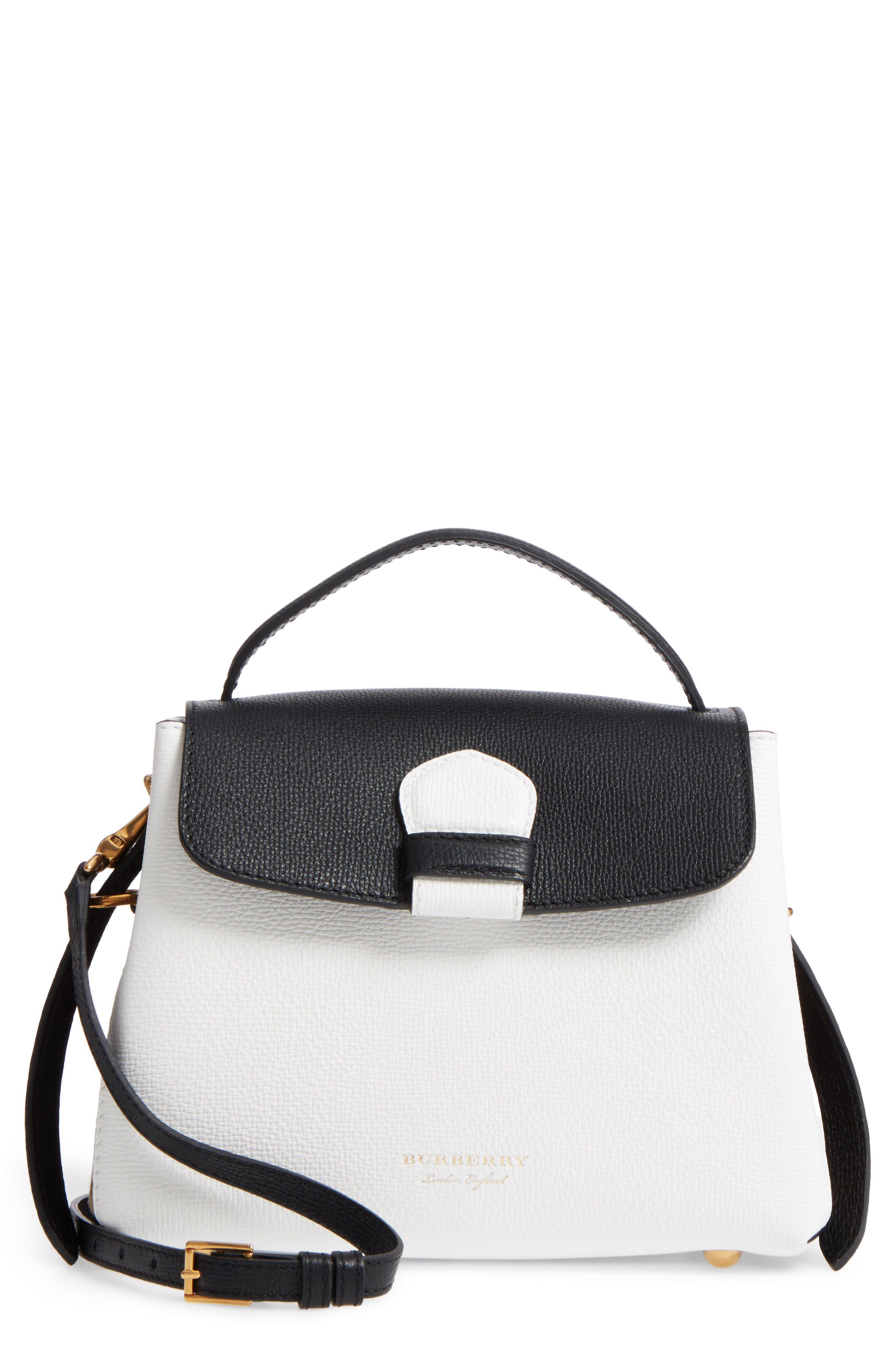 e0691b0e86e {Burberry Small Camberley Derby Leather & House Check Top Handle Satchel}