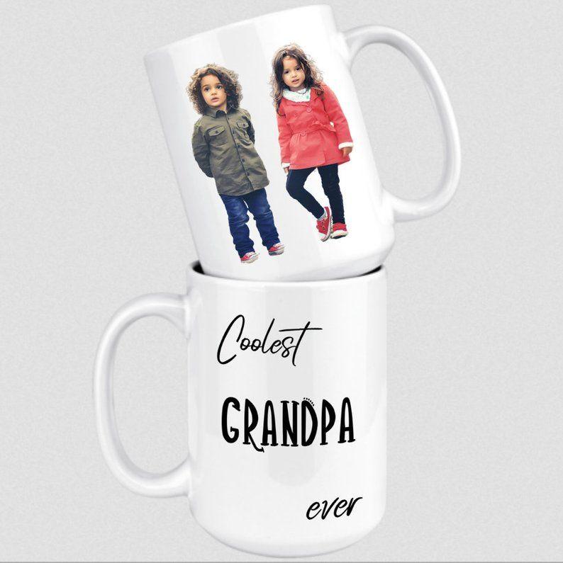Custom grandpa gift personalized coolest grandfather mug