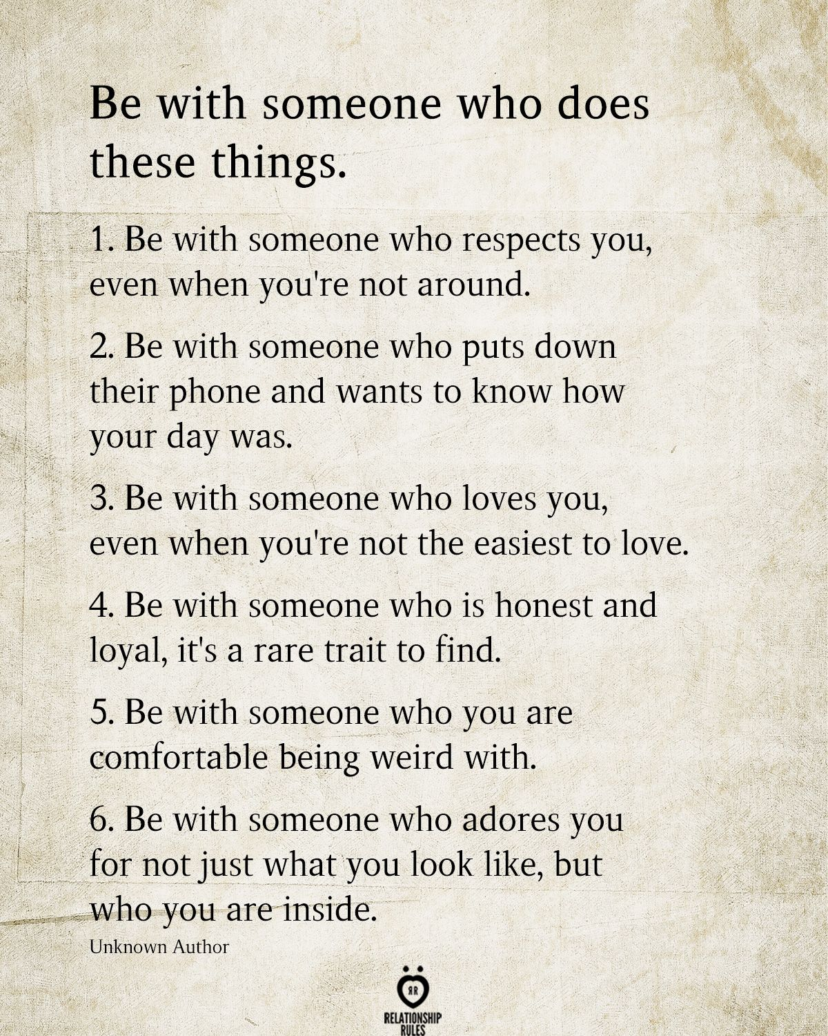 Be With Someone Who Does These Things
