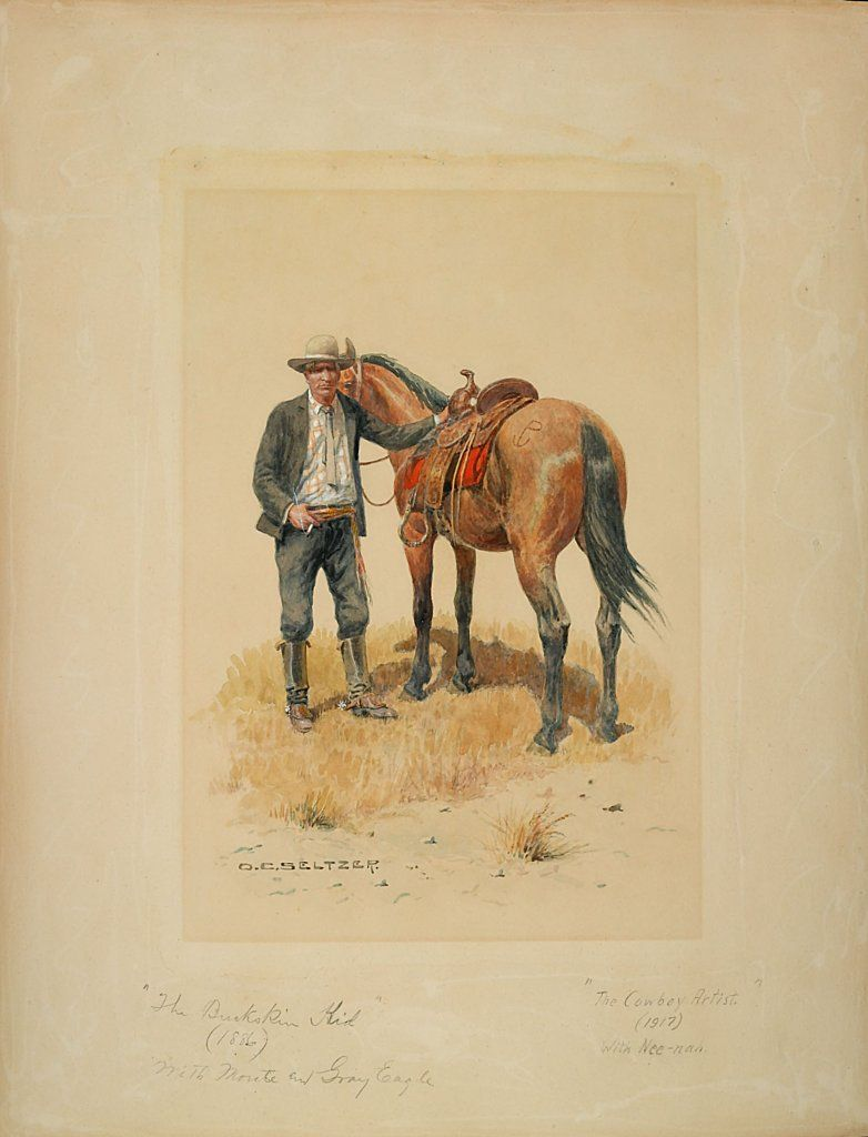 Olaf Carl Seltzer 1877 1957 Charles Russell With Horse