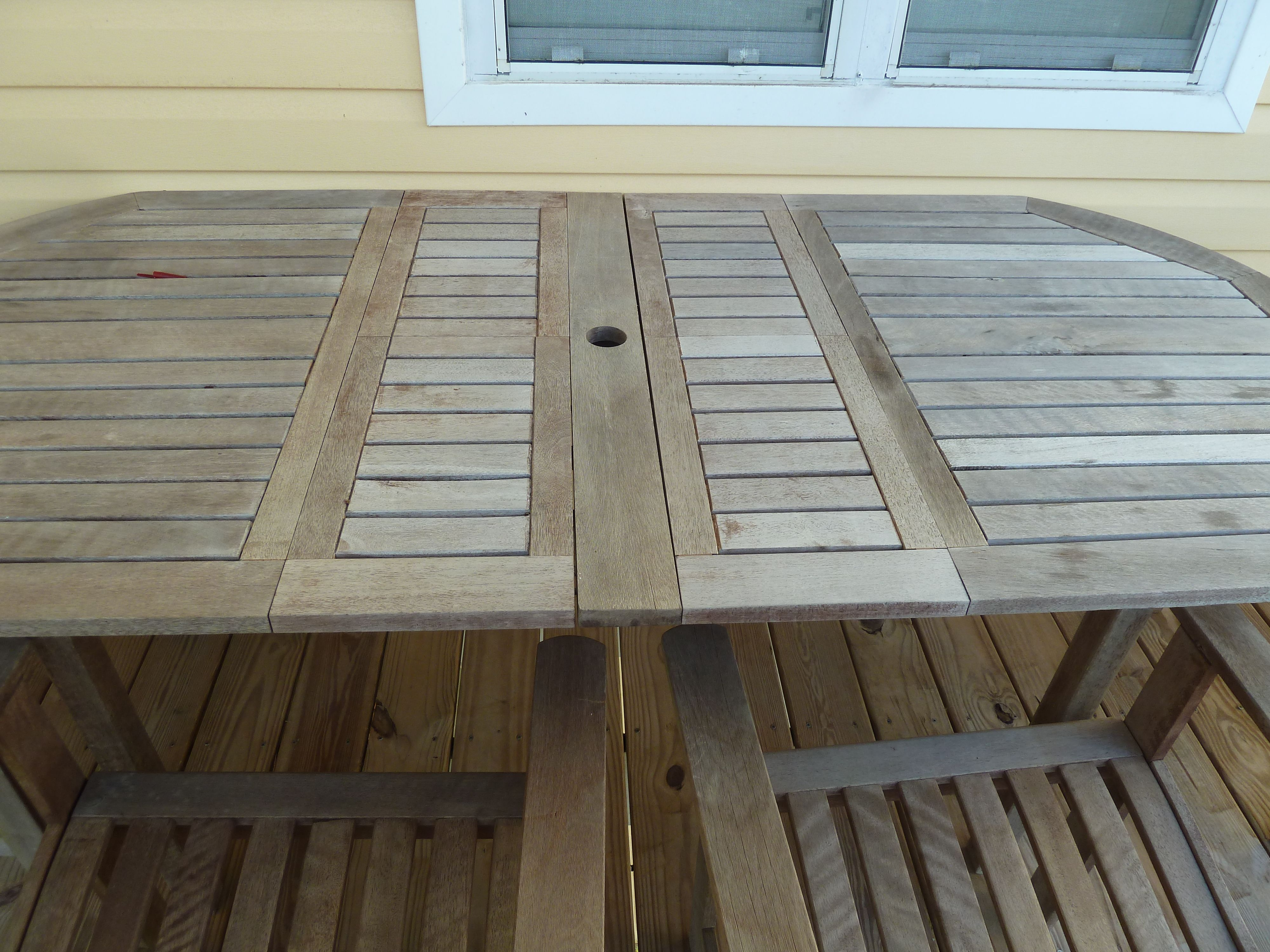 Outdoor Dining Table Before Stain