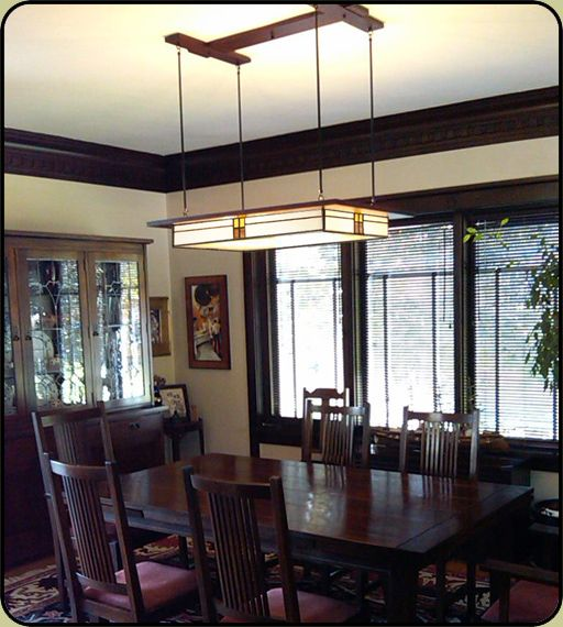 Prairie Style Light Fixture In Historic Home Dinning Room Lighting Prairie Style Lighting Dining Room Light Fixtures
