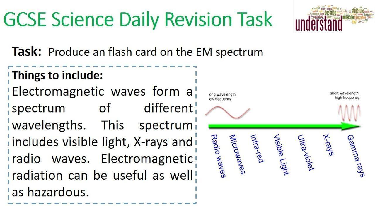Gcse Science Daily Revision Task 101 Em Spectrum Gcse Science Gcse Science Revision Science Daily