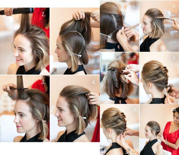 10 Sencillos Tutoriales De Peinados Para Cabello Corto Que Puede Usar En Cualquier Ocasion Peinados Faciles Para Cabello Corto Peinados Cabello Corto Peinados Poco Cabello