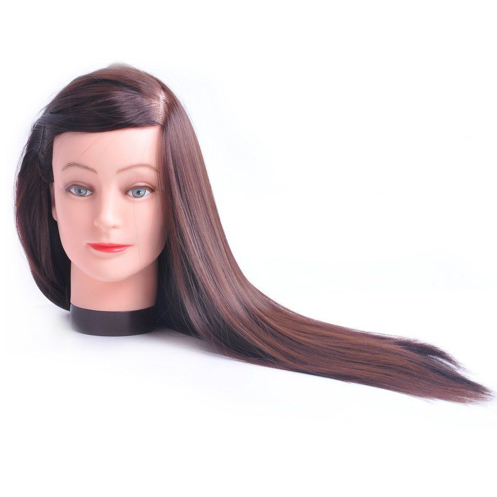 Hairealm 26 Mannequin Head Hair Styling Training Head Manikin Cosmetology Doll Head Synthetic Fiber Hair Table Clamp Stan Head Hair Hair Styles Mannequin Heads