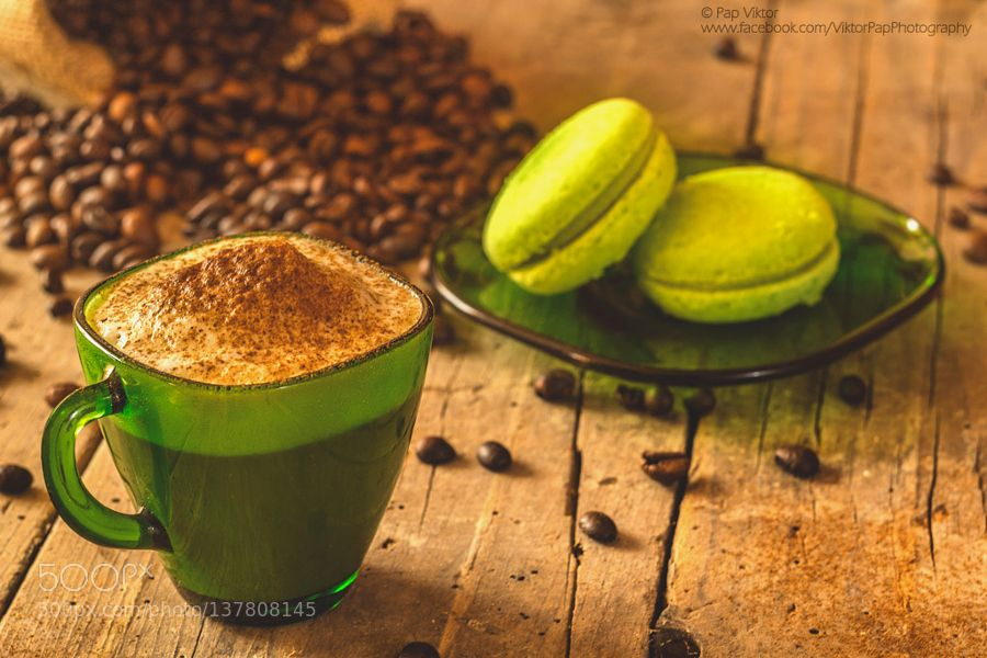 Pic Coffee with green cookie Green coffee extract