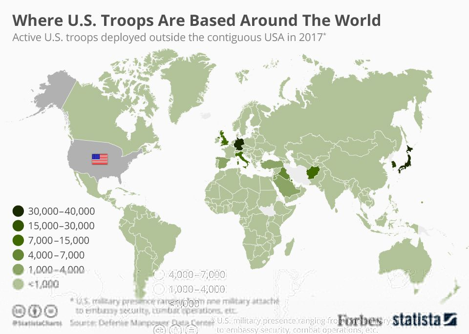 All The Countries Worldwide With A U.S. Military P