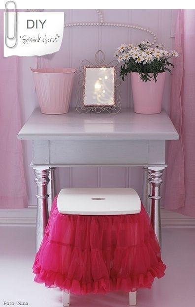 Marvelous Tutu Chair Cover · Little Girl VanityGirls ...